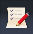 Blank note paper or check list with pencil icon vector | Price: 3 Credits (USD $3)