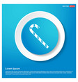 christmas candy cane icon abstract blue web vector image