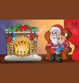 christmas indoor theme 6 vector image vector image