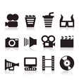 Cinema icons3 vector image vector image