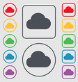 cloud icon sign symbol on the Round and square vector image