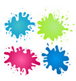 colorful watercolor splashes design elements vector image vector image