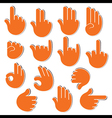 creative sign or signal show by hand finger vector image vector image