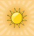 cute sun design vector image