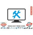 Desktop Settings Flat Icon With 2017 Bonus Trend vector image vector image