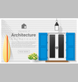 Elements of architecture front door background 13 vector image vector image