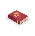 flat icon of jewish prayer book of sacred vector image