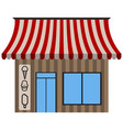 front view of an ice cream shop vector image