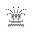 garden sprinkler lawn watering line art icon vector image