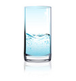 glass of water with fizz on light background vector image vector image
