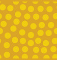 golden random polka dots background pattern vector image vector image