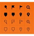 GPS and Navigation icons on orange background vector image vector image