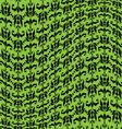 green black warped damask pattern vector image vector image