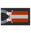 Hand made flag of Austria vector image vector image