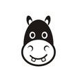 Hippo head icon vector image vector image