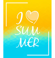 I love summer over triangular background vector image vector image