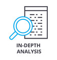 in depth analysis thin line icon sign symbol vector image