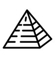 jewish pyramide icon outline style vector image