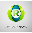 Letter R logo symbol in the colorful square on vector image vector image