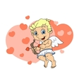 Little cupid flying 3 vector image