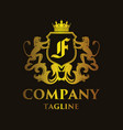 luxury letter f logo vector image vector image