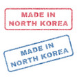 made in north korea textile stamps vector image vector image