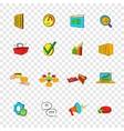 marketing set icons pop-art style