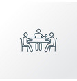 meeting icon line symbol premium quality isolated vector image vector image