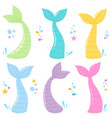 mermaid tails collection vector image