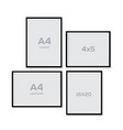 mock up blank picture frame for photographs vector image