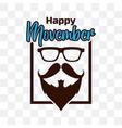 movember international mens day vector image