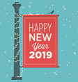 new-year-2019-street-sign-banner vector image vector image