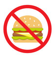no fastfood flat icon fitness and sport vector image vector image