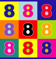 number 8 sign design template element pop vector image vector image