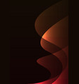orange red line curve transparent layer abstract vector image vector image
