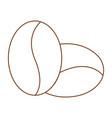 outline coffee symbol vector image