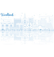 Outline Windhoek Skyline with Blue Buildings vector image vector image