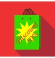 Package sale discount icon flat style vector image