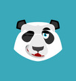 panda winking emoji chinese bear happy emotion vector image vector image