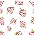 Pattern Circuit Strawberries vector image vector image