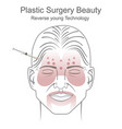 plastic surgery beauty vector image