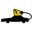 power car icon vector image