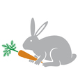 rabbit holding a carrot vector image vector image
