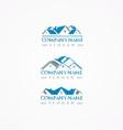 real estate logohome bundle logoroof logo vector image vector image