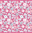 red and blue flower mix seamless pattern vector image vector image