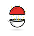 Red Ball Game to Play In The Team vector image vector image