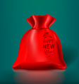 Red Christmas Sack vector image