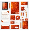 red set corporate identity template vector image