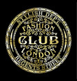 regents street london fashion club vector image