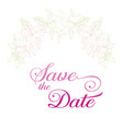 save the date card plant in blossom branch with vector image vector image